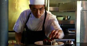 工作在餐馆的厨师 股票录像