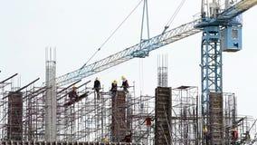 工作在建造场所的时间间隔人 股票视频