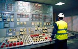 工作地点在系统控制屋子 免版税库存照片