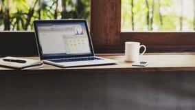 工作场所固定式经营分析概念 免版税库存图片