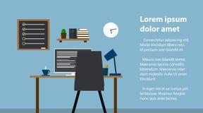 工作场所在本级教室 时髦和老内部 质量设计 向量例证