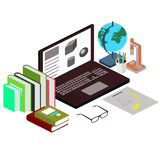 工作场所的概念学生 科学,教育 免版税库存图片