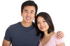 工作室射击了中国夫妇 免版税库存图片