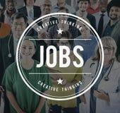 工作就业聘用的事业职业概念 免版税库存照片