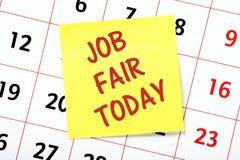工作市场今天排进日程提示 库存照片
