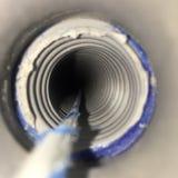 工作接线pullstring的孔 免版税库存照片