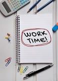 工作时间词 免版税图库摄影