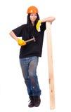 工作服的女孩 免版税库存图片