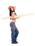 工作服的露胸部的女孩 免版税库存照片