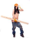 工作服的露胸部的女孩 免版税库存图片