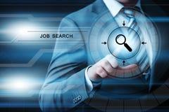 工作查找人力资源补充事业企业互联网技术概念 免版税库存照片