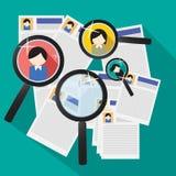 工作查找和工作面试 向量例证