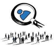 工作查找搜寻概念的人力资源雇员 库存照片