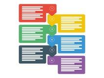 工作流企业数据介绍图 infographic的要素 向量图形模板 免版税库存图片