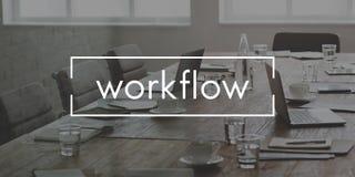 工作流有效的效率计划过程概念 库存图片
