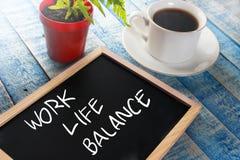 工作生活平衡 激动人心的文本 免版税库存照片