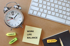 工作生活平衡、企业概念和时间安排想法 库存照片