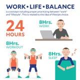 工作生活平衡平Infographic的例证 库存图片