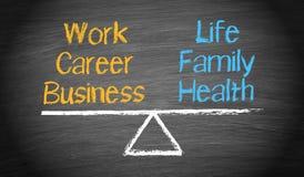 工作生活平衡 免版税图库摄影