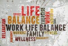 工作生活平衡 免版税库存照片