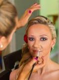 工作申请的化妆师组成 免版税库存图片