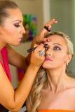 工作申请的化妆师组成 库存照片