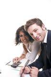 工作的企业小组 免版税库存图片