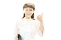 工作的女服务员 库存照片