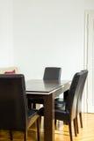 工作的空间和与客户和人的业务会议 库存照片