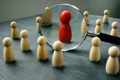 工作的解雇和聘用的人民 天分管理 库存图片