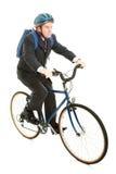 工作的骑马自行车 库存图片