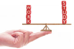 工作研究平衡概念 库存图片