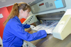 工作者和打印机 免版税图库摄影