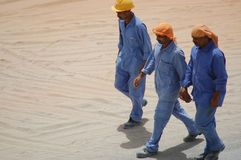 工作者在迪拜 免版税库存照片
