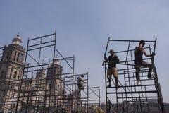 工作者在Zocalo 免版税库存照片
