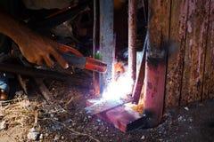工作者是焊接钢 免版税图库摄影
