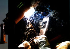 工作者焊工制造金属 库存图片