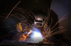 工作者焊接 库存照片