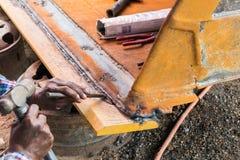 工作者焊接 库存图片