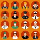 工作者,行业人, 向量例证
