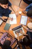 工作表和工作小组顶视图  库存照片