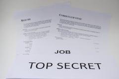 工作采访的概念是机要的 免版税库存照片