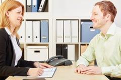 工作面试的申请人 免版税库存图片