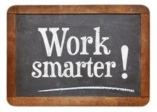 工作更加聪明的忠告 免版税库存照片