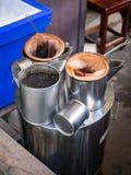 工具为做咖啡泰国样式 免版税库存照片