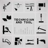 工具和技术员 库存照片