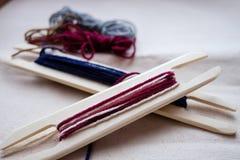工具和螺纹编织的 库存图片