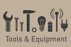 工具和设备元素 免版税库存图片