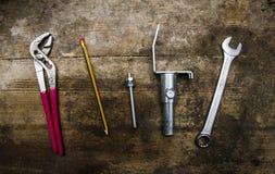 工具和零件 免版税库存图片