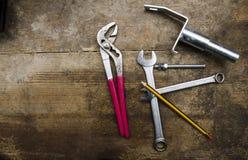 工具和零件 免版税库存照片